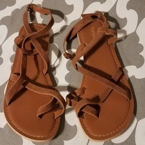 NWT Topshop genuine leather sandals